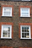 Georgian windows architecture on a wall house, London, UK Stock Images