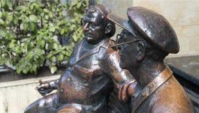 Georgians的纪念碑在长凳的 免版税库存图片