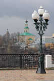 Georgievskaya教会, 18世纪 从观察台的看法 俄国vladimir 免版税库存图片