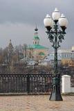 Georgievskaya kyrka, 18th århundrade Sikt från observationsdäck russia vladimir Royaltyfria Bilder