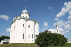 Georgievsky cathedral in Yuriev monastery Stock Photo