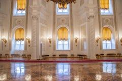 Georgievsky Hall des der Kreml-Palastes Stockbild