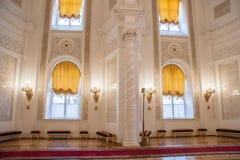 Georgievsky Hall of the Kremlin Palace Stock Image