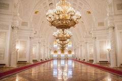 Georgievskyzaal van het Paleis van het Kremlin Stock Foto's