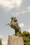 Georgios Karaiskakis statua w Sidagma Ateny Fotografia Royalty Free
