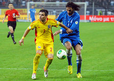 Georgios Samaras and Alexandru Matel during FIFA World Cup Playoff Game Royalty Free Stock Photo