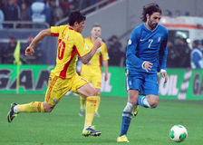 Georgios Samaras and Cristian Tanase during FIFA World Cup Playoff Game Stock Images