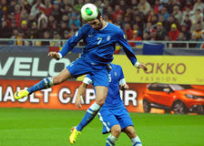 Georgios Samaras during FIFA World Cup Playoff Game Royalty Free Stock Images