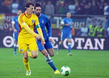 Georgios Samaras and Vlad Chiriches during FIFA World Cup Playoff Game Stock Photos