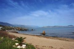 Georgioupol beach. In  crete island Royalty Free Stock Photos