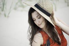 Georgisch meisje op het strand Royalty-vrije Stock Foto