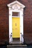 Georgische gelbe Tür Stockfotografie