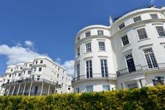 Georgische huizen, Brighton royalty-vrije stock afbeeldingen
