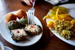 Georgische keuken in restaurant in Tbilisi Stock Fotografie