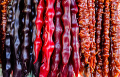 Georgische snoepjes yummy churchkhela royalty-vrije stock foto