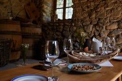 Georgische specialiteiten: Chinkali en Shotis Puri royalty-vrije stock afbeeldingen