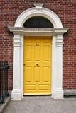 Georgische Tür, Dublin, Irland lizenzfreies stockbild