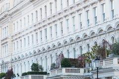 Georgische Terrasse in London Lizenzfreie Stockfotografie