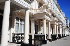 Georgische terrasvormige huizen Stock Foto