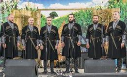 Georgische vielstimmige Musik Stockbilder