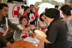 Georgische vluchtelingen in Gori Royalty-vrije Stock Fotografie
