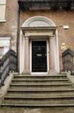Georgische zwarte deur royalty-vrije stock afbeelding