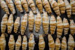 Georgischer Nachtisch auf einem Backblech Georgische Plätzchen Ansicht von oben Lizenzfreies Stockfoto