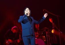 Georgischer Sänger Gela Guralia Finalist der Show ist die Stimme in Russland lizenzfreie stockfotografie