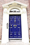 Georgisk dörr, Dublin, Irland royaltyfria foton