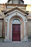 Georgisk dörringång Batumi Georgia för ortodox kyrka royaltyfria bilder