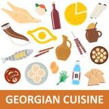 Georgisk kokkonstvektorillustration stock illustrationer