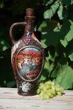 Georgisk lerkärl för vin Arkivfoto