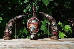 Georgisk lerkärl för vin Royaltyfri Foto