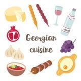 Georgisk nationell kokkonst seamless vektor för modell royaltyfri illustrationer