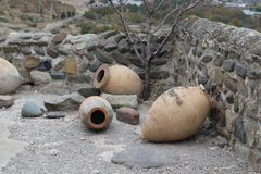 Georgiska leratillbringare för vin royaltyfri foto