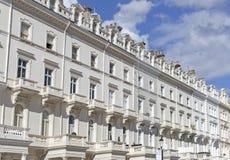 Georgiska stuckaturframdelhus i London arkivbild