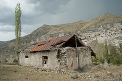 Georgorian House. Isolated house near monk caves Royalty Free Stock Images