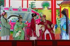 GEORGTOWN, PENANG MALEZJA, NOV, - 18 2016: Porcelanowy uliczny teatr podczas festiwalu w ten mieście Zdjęcie Stock