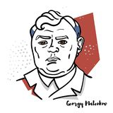 Georgy Malenkov portret ilustracja wektor