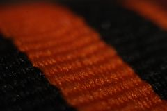 The Georgy Ribbon in maximum magnification macro royalty free stock photo