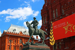 Georgy Zhukov monument on the square Royalty Free Stock Image