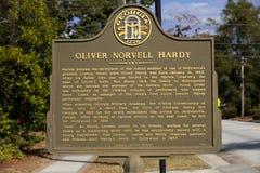 Georiga Historisch Teken voor Oliver Hardy Stock Afbeelding
