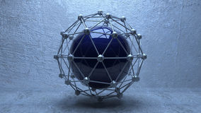 Geosphere. Interesting geometric form with connectors Royalty Free Stock Image