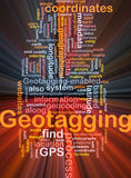 Geotagging coordinates background concept glowing Stock Photo