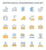 Geotechnical inżynierii ikona Obraz Stock
