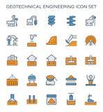 Geotechnisch techniekpictogram royalty-vrije illustratie