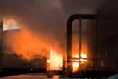 geotermal ström Arkivfoton