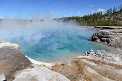 Geotermiczna aktywność przy Yellowstone parkiem narodowym, Wyoming Zdjęcie Royalty Free