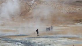Geotermiczna aktywność w Iceland Fotografia Royalty Free