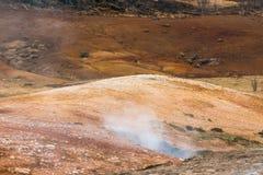 Geotermiczna aktywność w icelandic naturze Zdjęcia Royalty Free